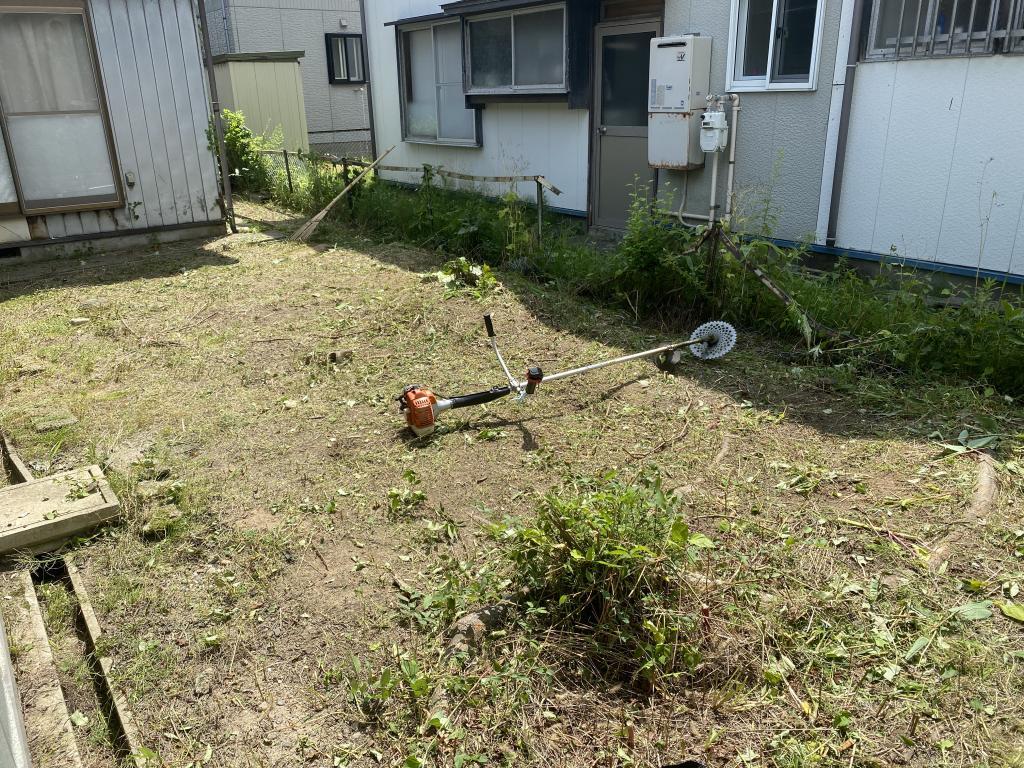 秋田市草刈り作業!